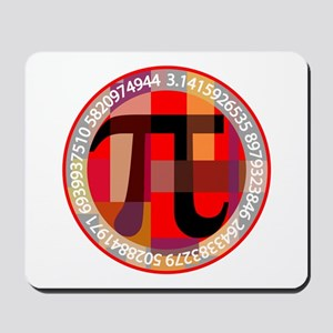 Artistic, Geometric Pi Mousepad
