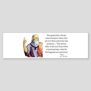 Plato 18 Bumper Sticker