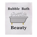 Bubble Bath Beauty Throw Blanket