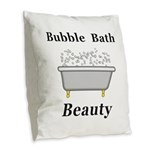 Bubble Bath Beauty Burlap Throw Pillow