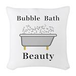 Bubble Bath Beauty Woven Throw Pillow