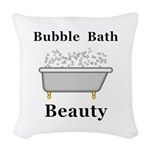 Bubble Bath Beauty Woven Throw Pillow