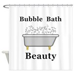 Bubble Bath Beauty Shower Curtain