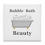 Bubble Bath Beauty Tile Coaster