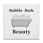 Bubble Bath Beauty Tile Coaster