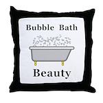Bubble Bath Beauty Throw Pillow