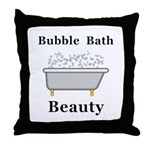 Bubble Bath Beauty Throw Pillow