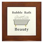 Bubble Bath Beauty Framed Tile
