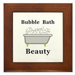 Bubble Bath Beauty Framed Tile