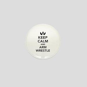Keep calm and arm wrestle Mini Button