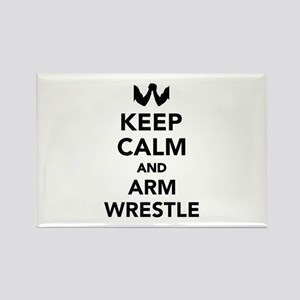 Keep calm and arm wrestle Rectangle Magnet