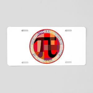 Artistic, Geometric Pi Aluminum License Plate