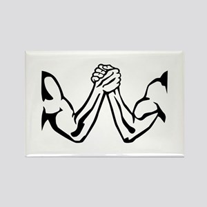 Arm wrestling Rectangle Magnet