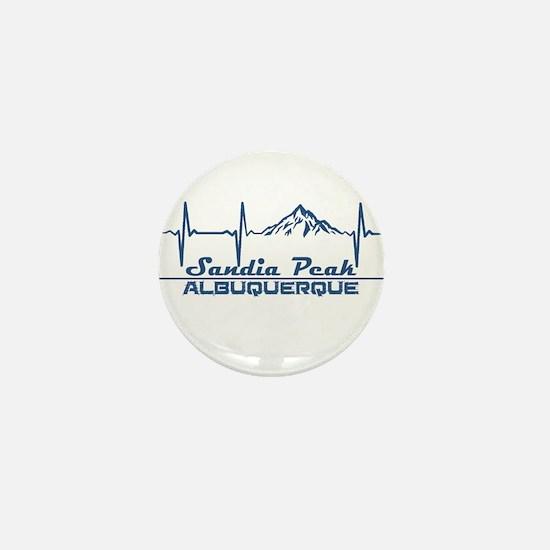 Sandia Peak - Albuquerque - New Mexi Mini Button