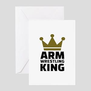 Arm wrestling king Greeting Card