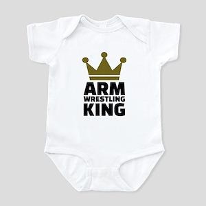 Arm wrestling king Infant Bodysuit