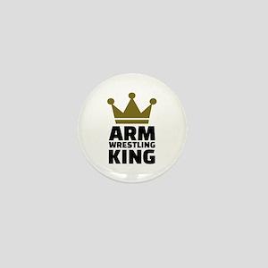 Arm wrestling king Mini Button