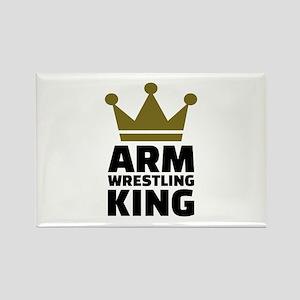 Arm wrestling king Rectangle Magnet