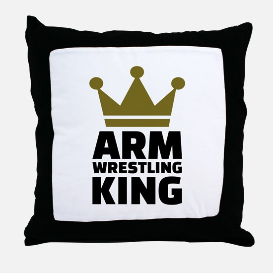 Arm wrestling king Throw Pillow