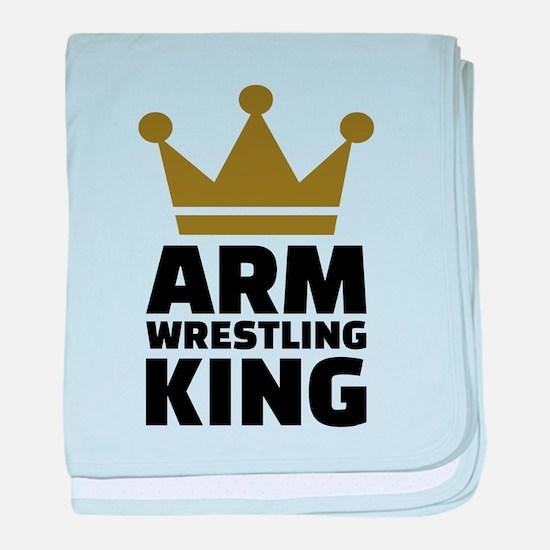 Arm wrestling king baby blanket
