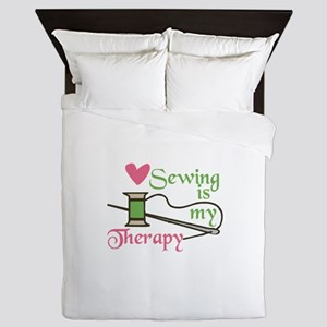 Sewing Therapy Queen Duvet