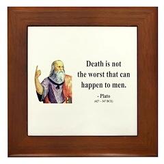 Plato 19 Framed Tile