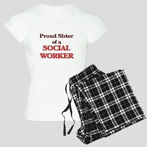 Proud Sister of a Social Wo Women's Light Pajamas