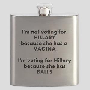 Hillary 2016 Flask