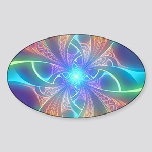 Psychedelic Rainbow Swirl Sticker