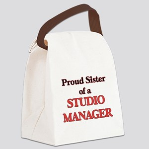 Proud Sister of a Studio Manager Canvas Lunch Bag