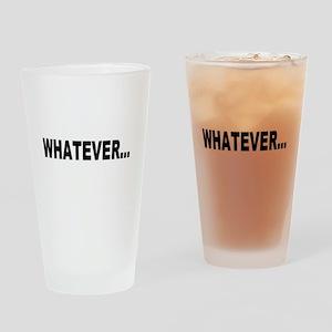 Whatever, black Drinking Glass