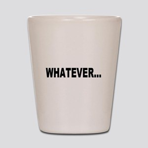 Whatever, black Shot Glass