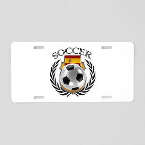 Spain Soccer Fan Aluminum License Plate