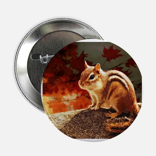 "Cute Chipmunks 2.25"" Button"