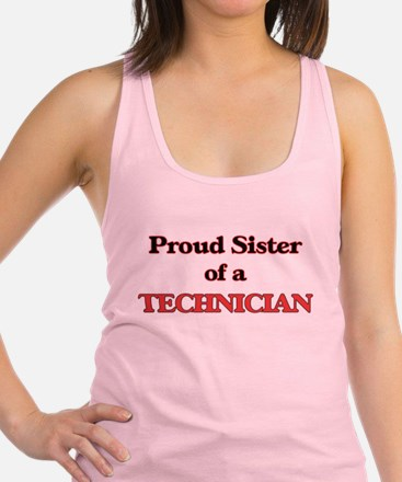 Proud Sister of a Technician Racerback Tank Top