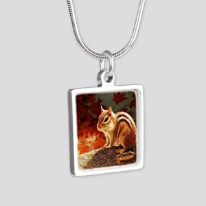 Glowing Chipmunk in Autumn Sun Necklaces