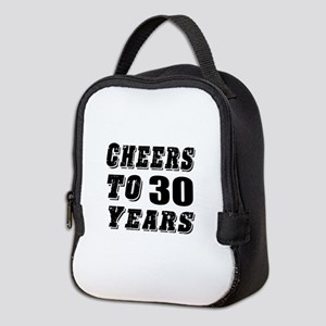 Cheers To 30 Neoprene Lunch Bag