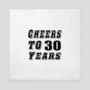 Cheers To 30 Queen Duvet