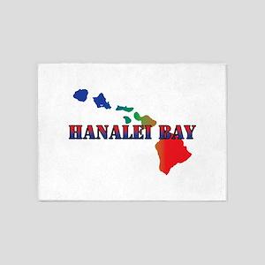 Hanalei Bay Hawaii 5'x7'Area Rug