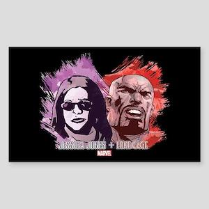 Jessica Jones & Luke Cage Sticker (Rectangle)