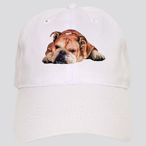 English Bulldog Art Portrait Baseball Cap