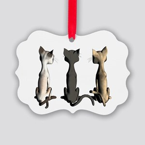Cute cartoon cats Picture Ornament