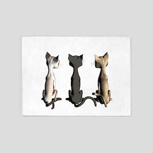 Cute cartoon cats 5'x7'Area Rug