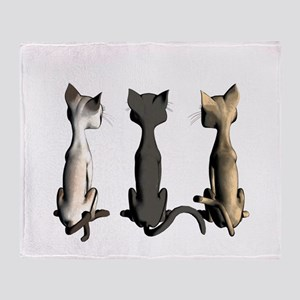 Cute cartoon cats Throw Blanket
