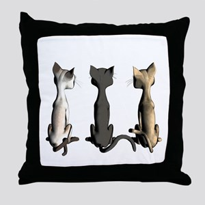 Cute cartoon cats Throw Pillow