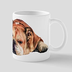 English Bulldog Art Portrait Mugs