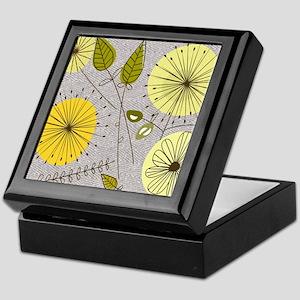 Mid-Century Dandelion Clocks Keepsake Box