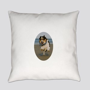 Happy Yoga Stance Everyday Pillow