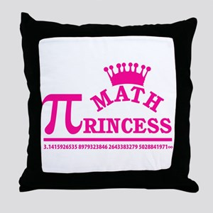 Math Princess Throw Pillow