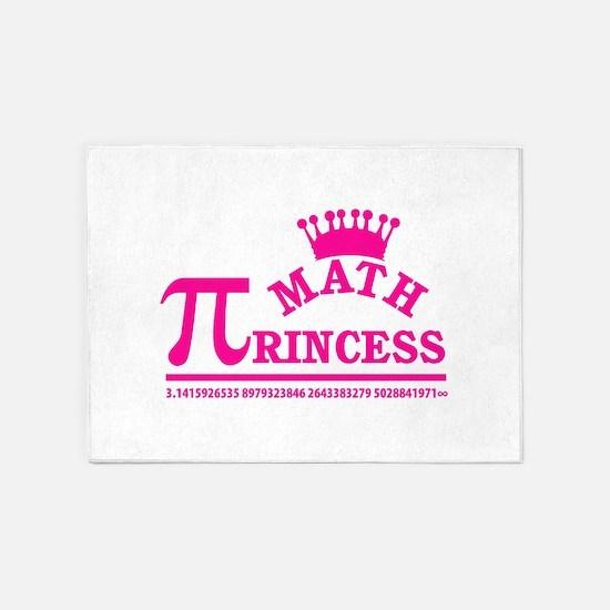 Math Princess 5'x7'Area Rug